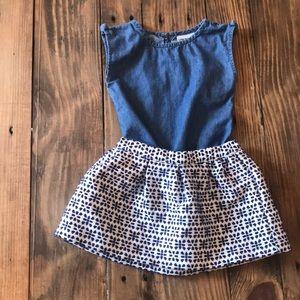 Genuine Kids By OshKosh Top with Skirt Bundle